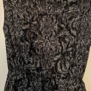 Black/Gray H&M floral print dress